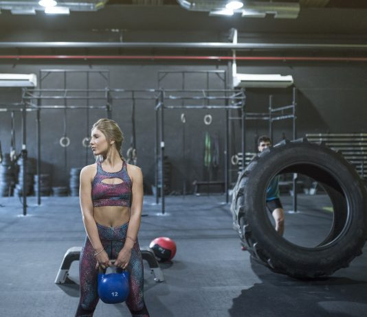 woman performing Kettlebell Exercise