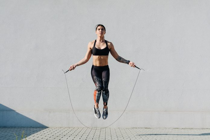woman doing Jump Roping Workout