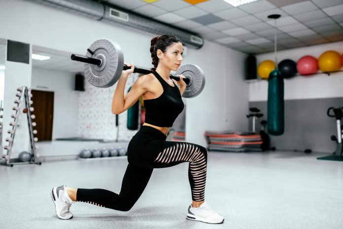 weighted lunge exercise