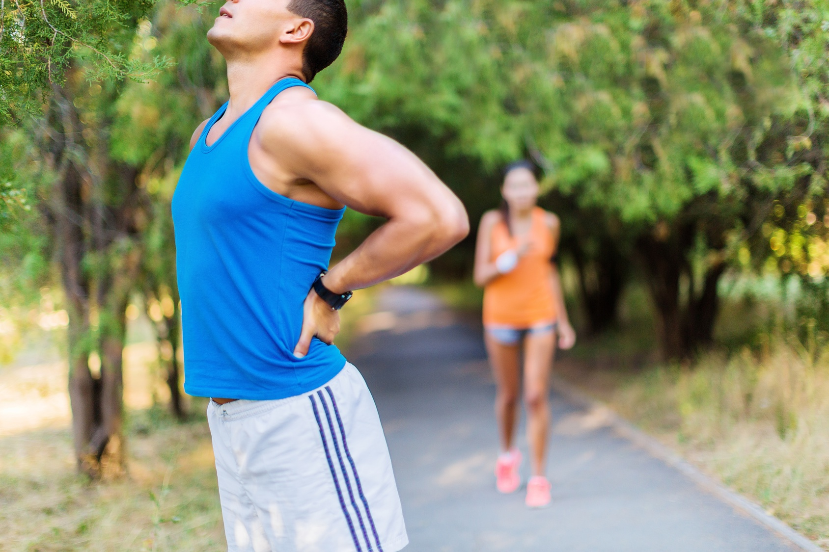 man suffering from Back Pain When Running