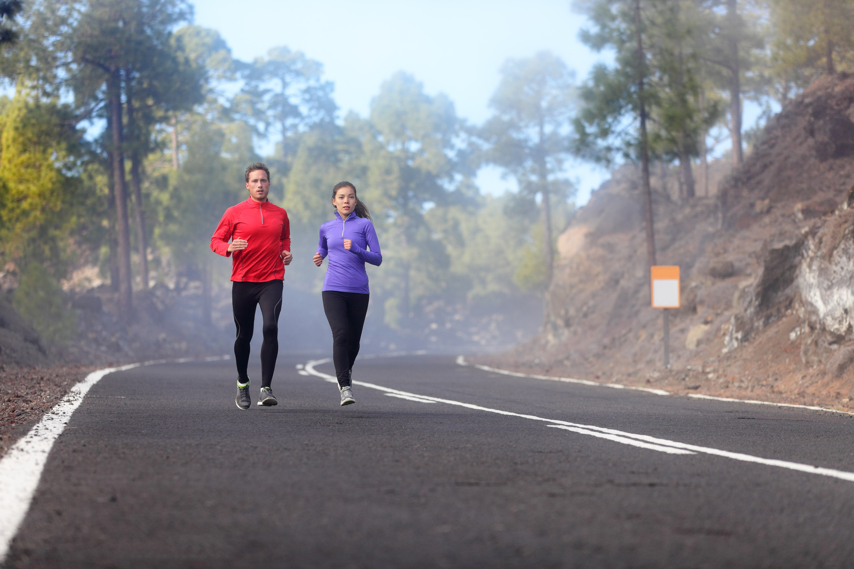 couple doing recovery run on a sunday