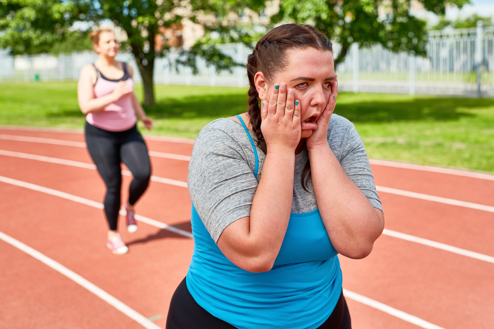 woman training for race pace