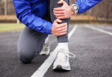 runner suffering from shin splints