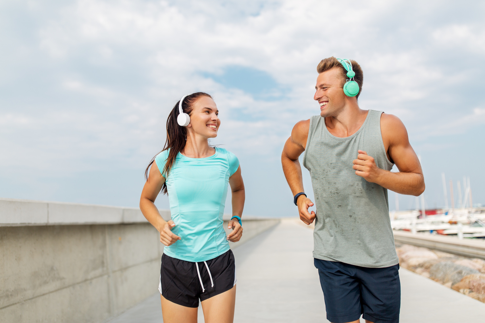 couple doing recovery run